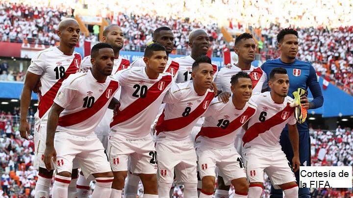 Los jugadores de la Selección Perú, que estuvieron en el debut.