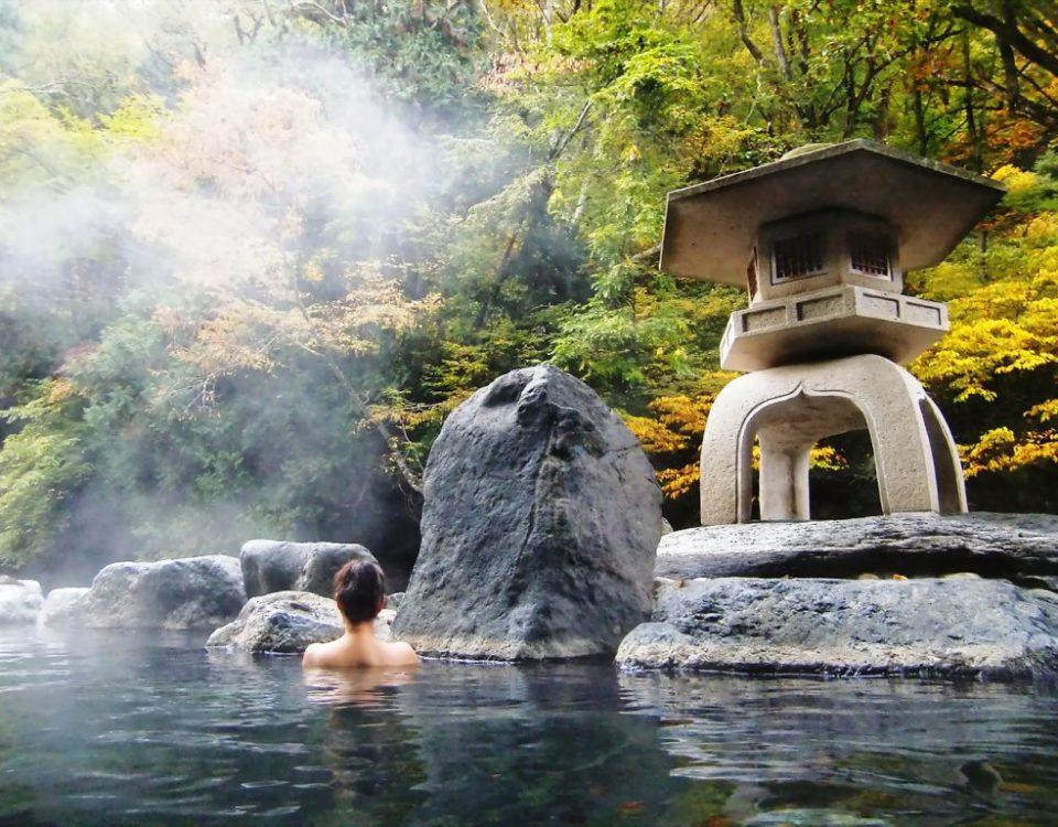 Lugares con aguas termales en Japón.