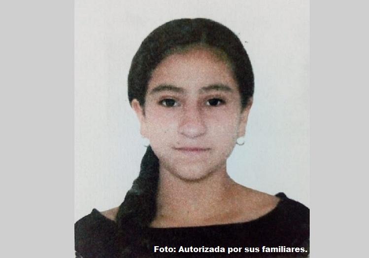 Yésica Ortiz Hidalto, de 13 años, desaparecida.