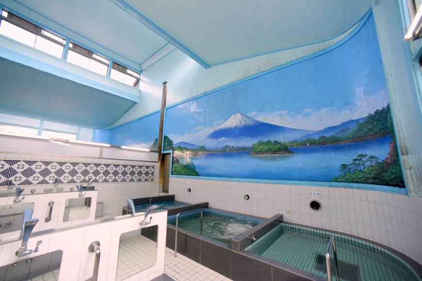 Baños con aguas termales en Japón
