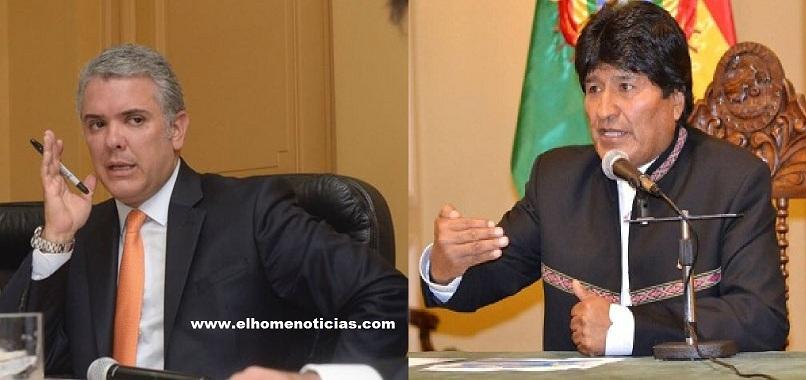 Iván Duque, presidente de Colombia y Evo Morales, presidente de Bolivia.