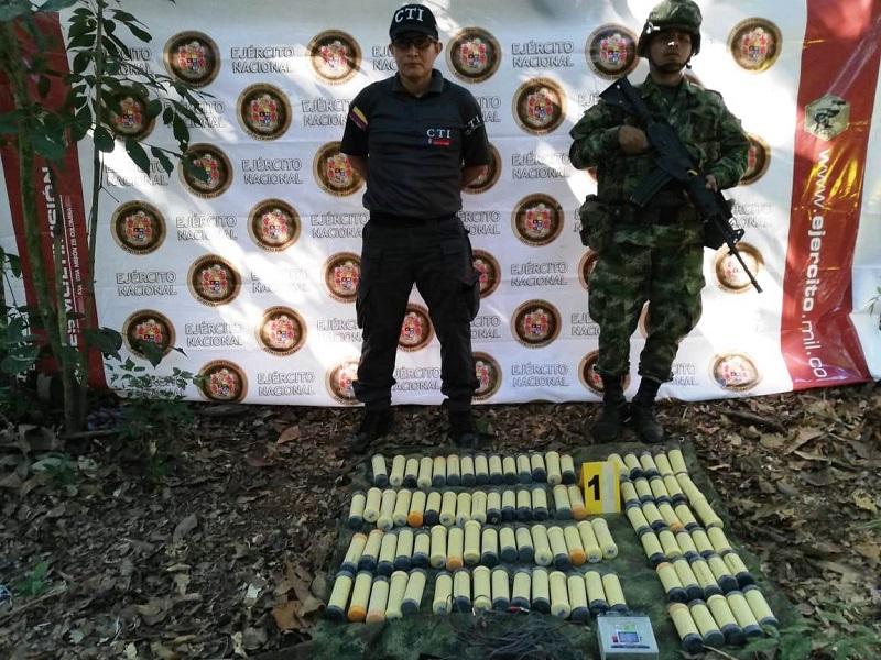 Explosivos disidentes de las Farc.