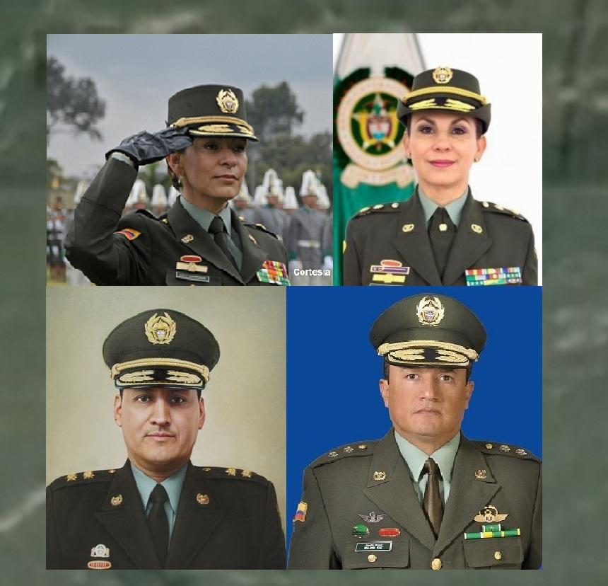 Generales mencionados en procesos por carrusel de los contratos en la Policía.