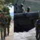 Militares del Ejército colombiano y norteamericano.
