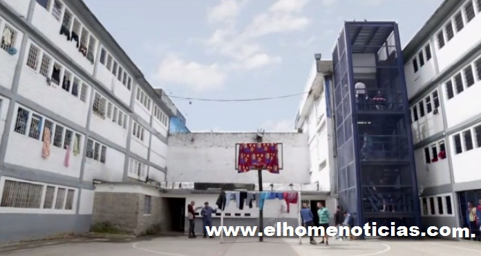 Patio de la cárcel La Modelo de Bogotá.