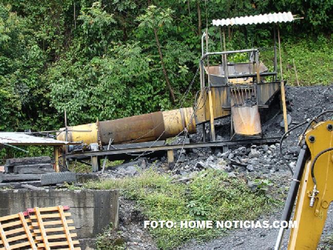 Una de las minas de esmeraldas de Boyacá.