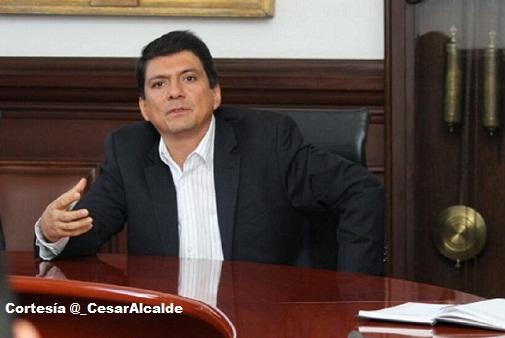 César Cristian Gómez, alcalde de Popayán.