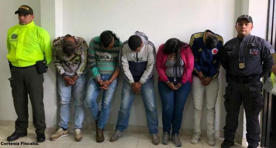 Cinco integrantes de la banda 'Los prestamistas' fueron capturados.