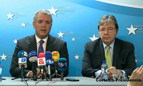 Presidente de la República, Iván Duque desde Bruselas.