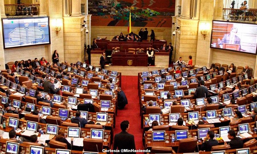 Plenarias en el Congreso de la República.
