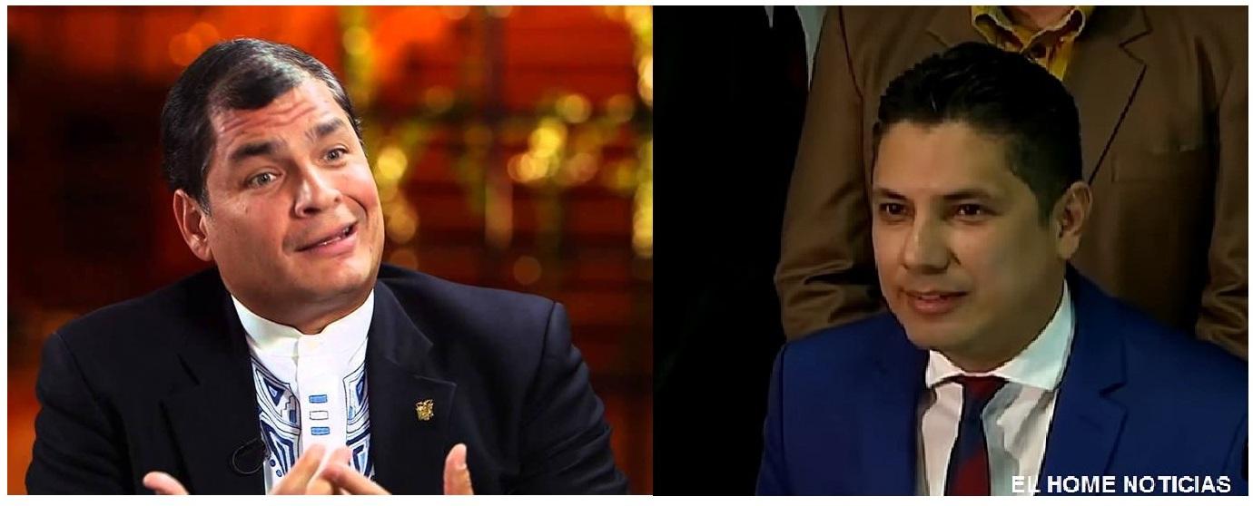 Rafael Correa Delgado y Fernando Balda Flores.