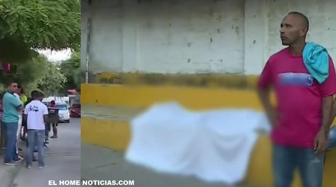 El cadáver de hombre, cubierto por una sábana, que murió, al parecer, por un infarto estuvo tendido por ocho horas a un costado de una vía pública en un barrio al sur de Cartagena.