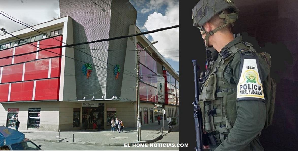 Los efectivos de la Policía Fiscal y Aduanera, con funcionarios de la DIAN entraron violentamente a unas oficinas del Centro Comercial Puerta Grande, sin una orden judicial.