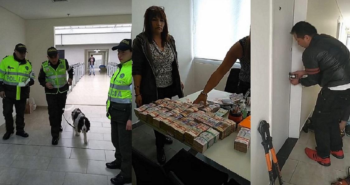 Las fotos en las que se observa el procedimiento de la Polfa y la Dián, que ha sido demandado por comerciantes de San Andresito.