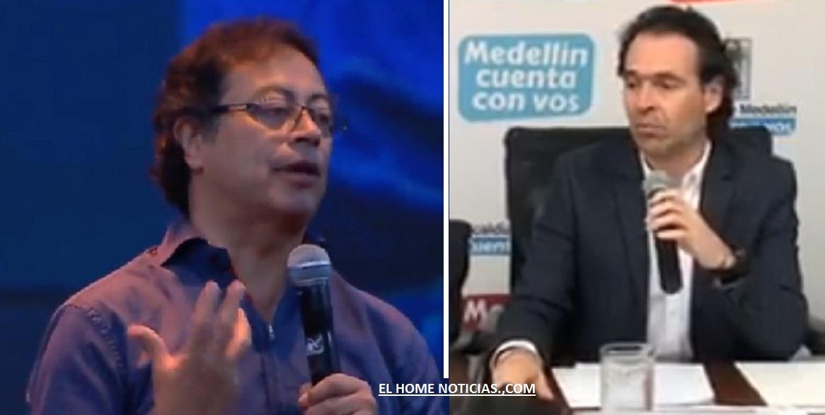 Gustavo Petro y Federico Gutiérrez, los dos políticos entablaron una discusión a través de Twitter.