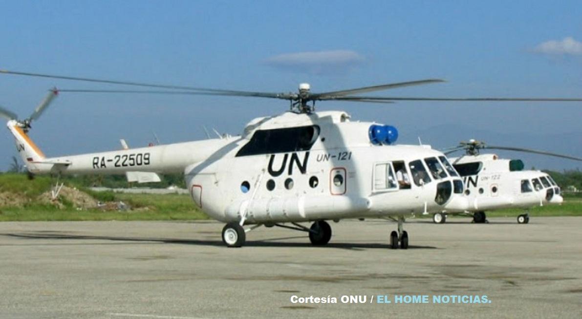 Estos helicópteros para transportar a excombatientes de las Farc y a los delegados de la ONU son operados por la aerolínea rusa UTair.