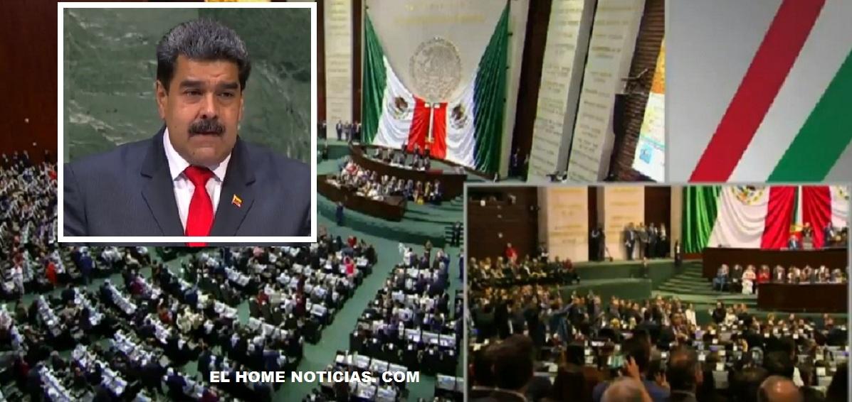 Los parlamentarios opositores gritaron ¡Dictador! Cuando Andrés Manuel López Obrador saludó a Nicolás Maduro.