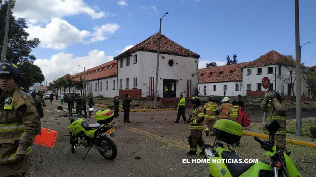 Carro bomba explotó dentro de la Escuela de Cadetes General Santander, al sur de Bogotá.