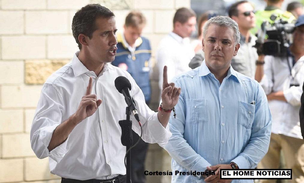 Desde Cúcuta, el presidente de Venezuela, Juan Guaidó, hizo este sábado un llamado a las Fuerzas Armadas de su país para que dejen de obedecer a Nicolás Maduro.