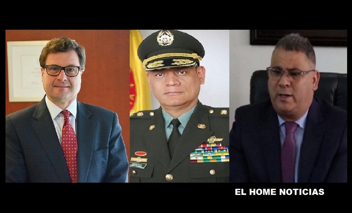Luis Fernando Andrade, testigo en caso Odebrecht; general Jorge Luis Ramírez, exdirector del Inpec; y el abogado César Augusto Ceballos, detenido por caso corrupción.