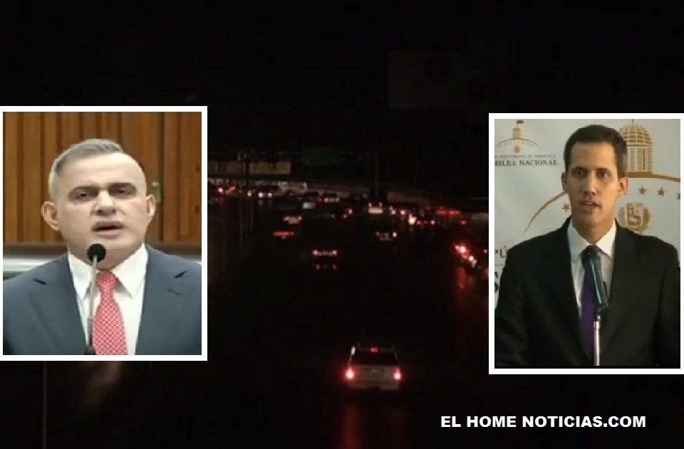El fiscal General de Venezuela Tarek William Saad responsabilizó a Guaidó del colapso energético.