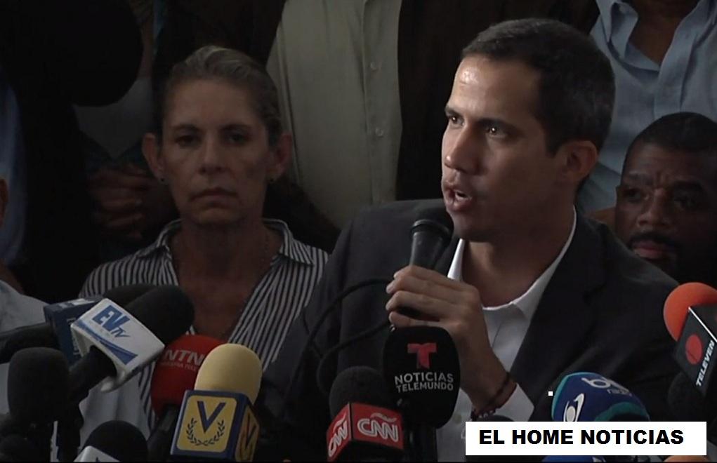 El presidente interino de Venezuela, Juan Guaidó, anunció que acordó con las centrales obreras un paro escalonado en las próximas horas.