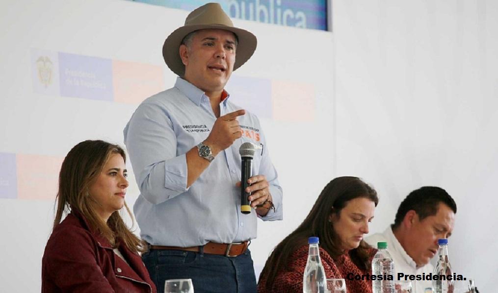El presidente Iván Duque se refirió al tema crisis en Venezuela durante el Taller Construyendo País, que se realizó en Aquitania, Boyacá.