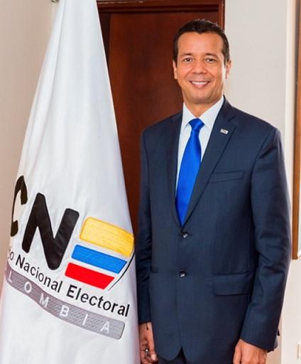 Magistrado Heriberto Sanabria Astudillo, presidente del Consejo Nacional Electoral (CNE)