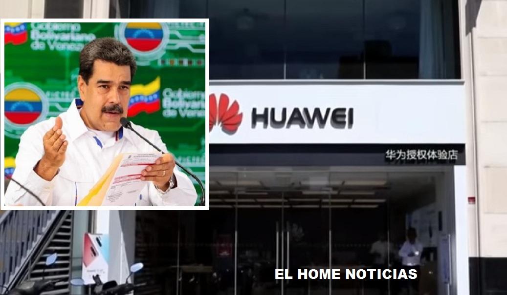 """El dictador de Venezuela dijo que hará """"inversión inmediata"""" en la empresa Huawei, acusada por Estados Unidos de ser una espía pieza en el espionaje chino."""