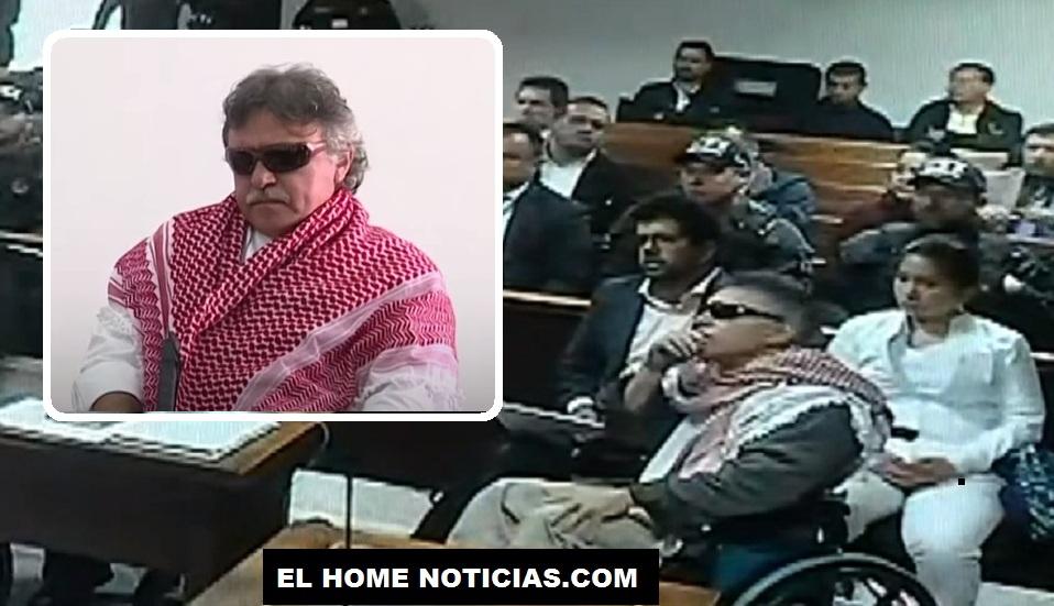 Seuxis Paucias Hernández Solarte, también conocido como Jesús Santrich, durante la audiencia de imputación de cargos en los juzgados de Paloquemao.