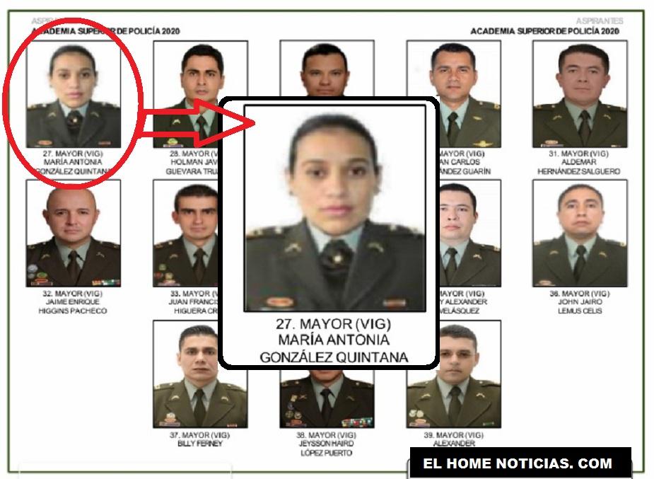 El nombre y la foto de la mayor María Antonia González Quintana encabeza uno de los listados del tarjetón de propuestos a ascensos.