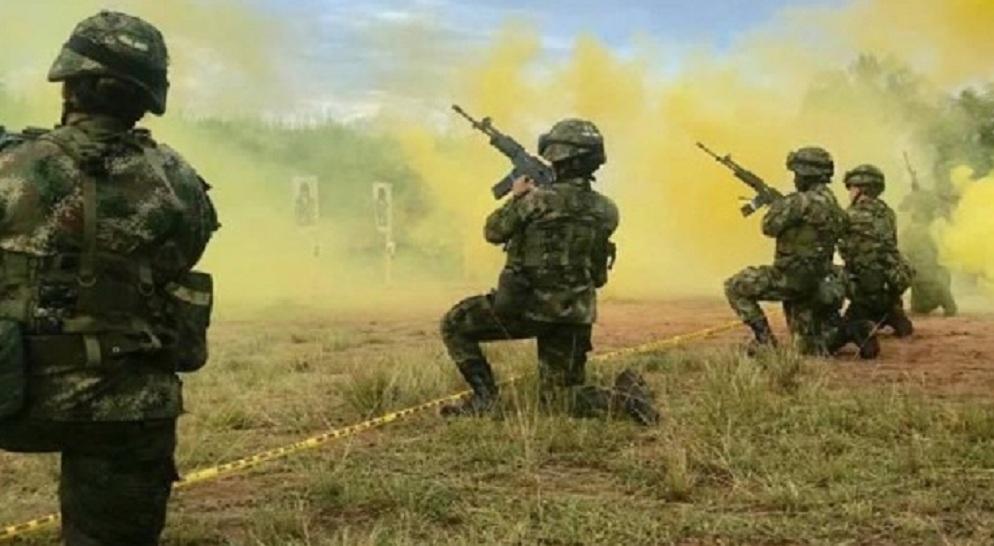 Soldados del Ejército Nacional durante un entrenamiento. Foto: Cortesía Ejército.