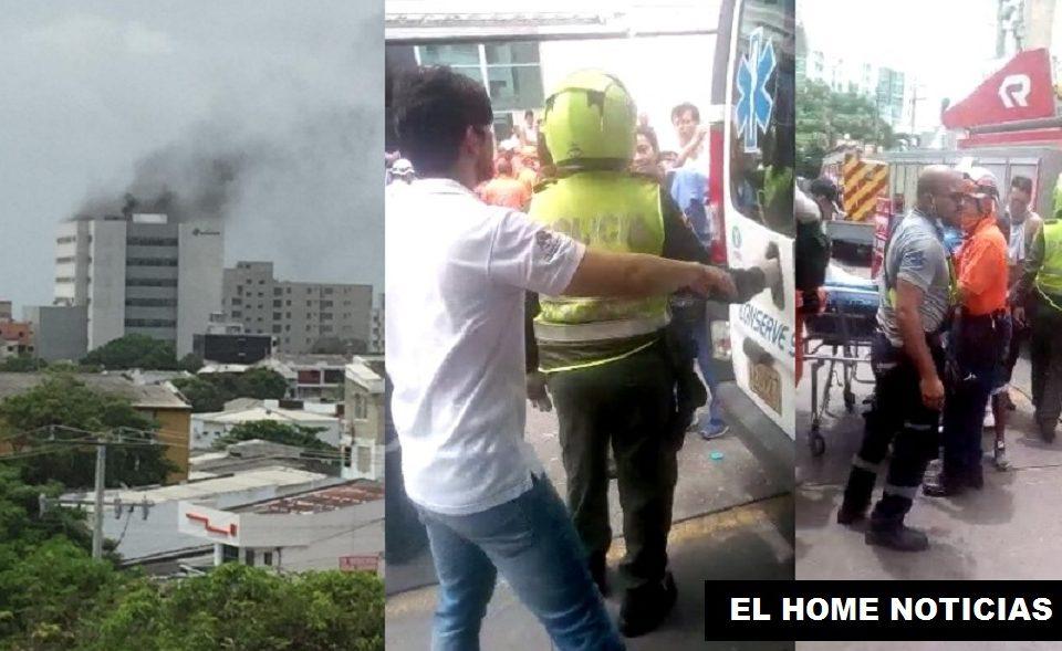 ncendio en la clínica las Mercedes en Barranquilla genera emergencia.