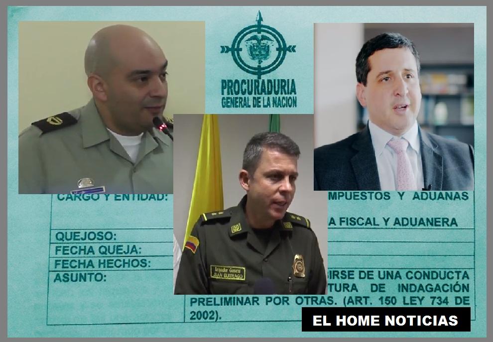 Coronel Óscar Hernán Cortés Dueñas, general Juan Carlos Buitrago Arias, y José Andrés Romero Tarazona –director de la DIAN–, mencionados en la investigación que adelanta la Procuraduría por supuestas irregularidades.