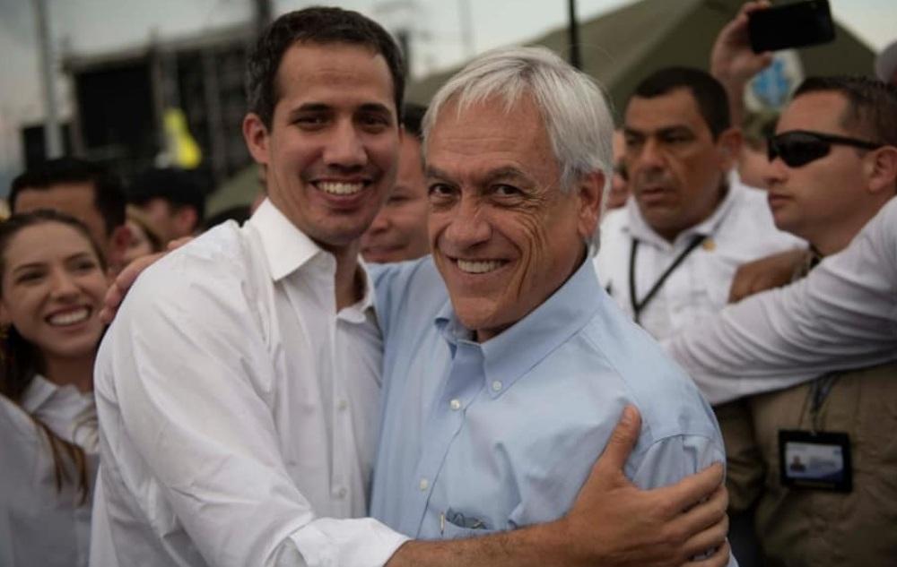 Sebastián Pieñera, presidente de Chile, y Juan Guaidó, presidente interino de Venezuela.