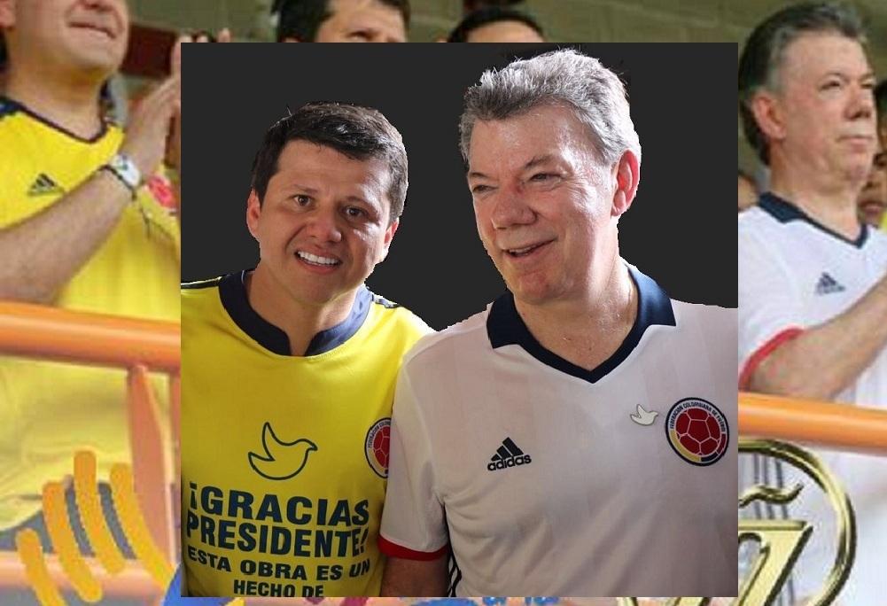 Bernardo 'Ñoño' Elías y Juan Manuel Santos