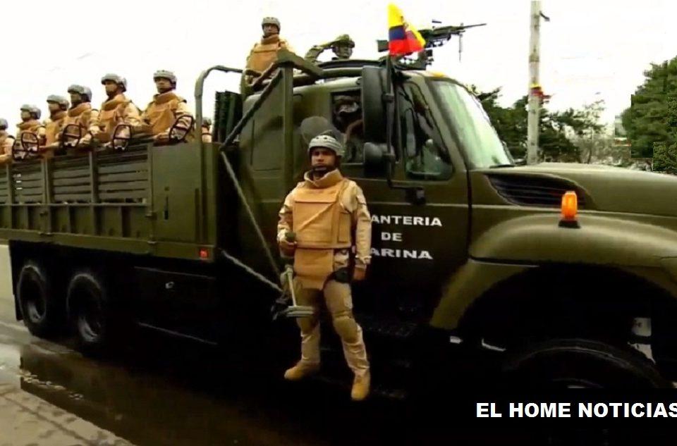 Desfile Militar del 20 de Julio en Bogotá. Independencia.