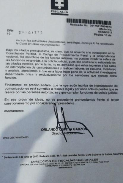 Dirección Nacional de Fiscalías.