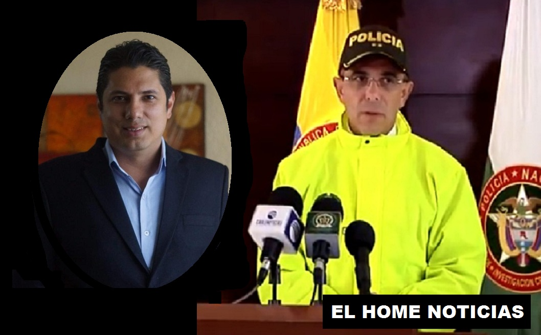 Fernando Bal;da y el general Jorge Luis Varga Valencia.