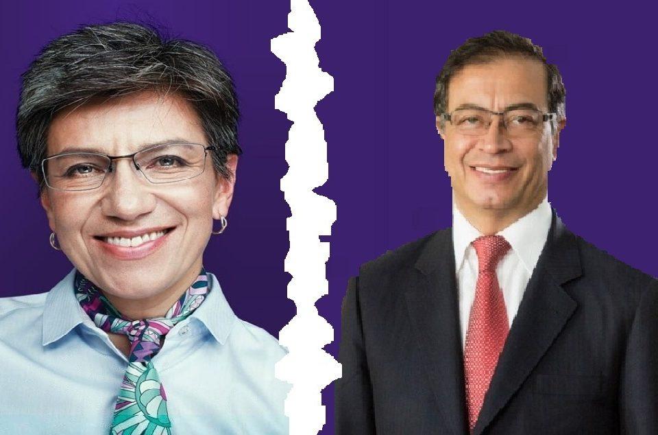Gustavo Petro y Claudia López.