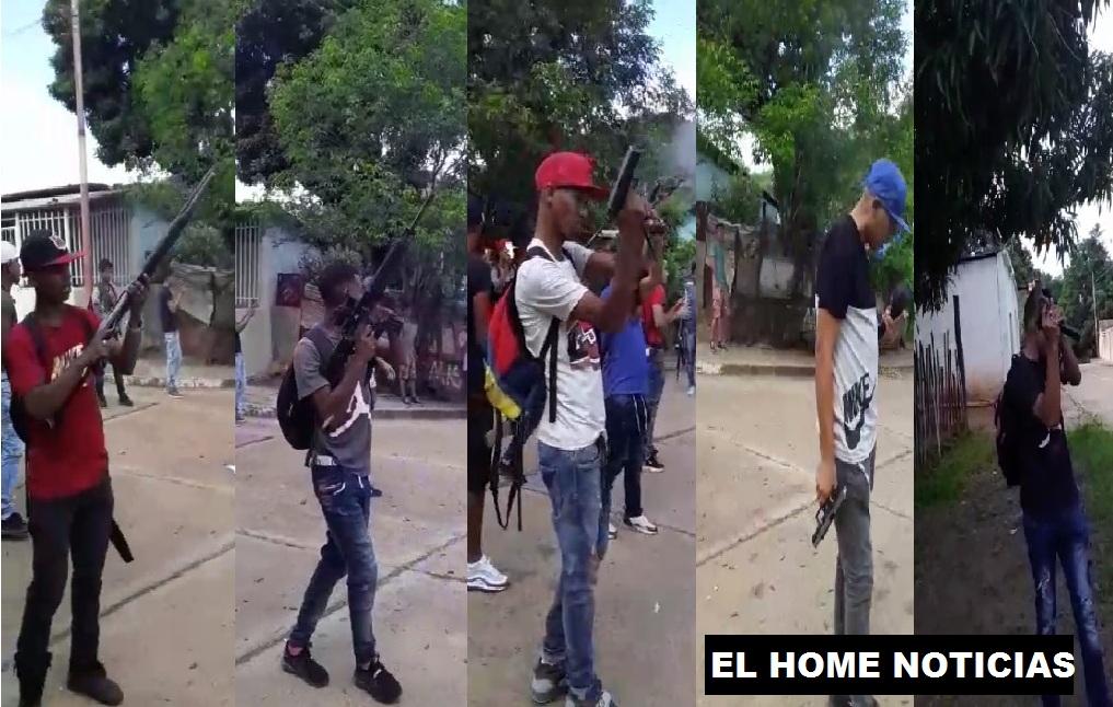 Colectivos armados en Venezuela.