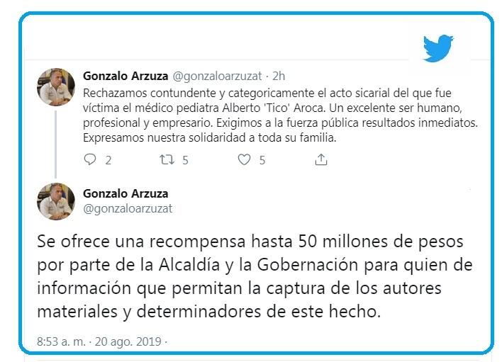 Trino de Gonzalo Arzuza, Secretario de Gobierno de Valledupar.