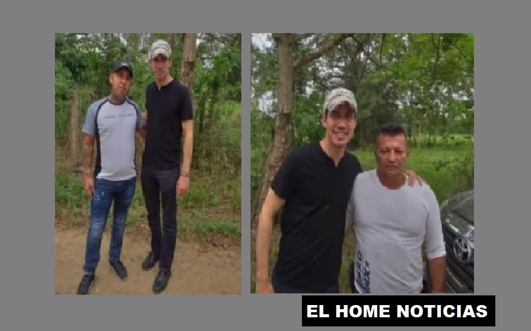 Juan Guaidó y dos de los Rastrojos.