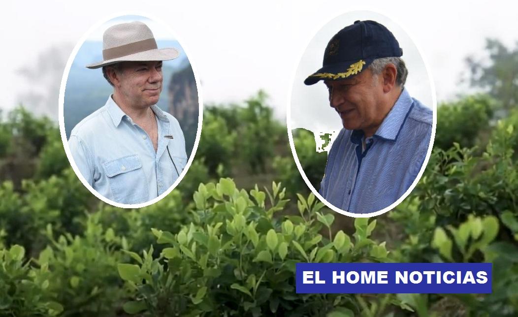 Juan Manuel Santos y Óscar Naranjo Trujillo.