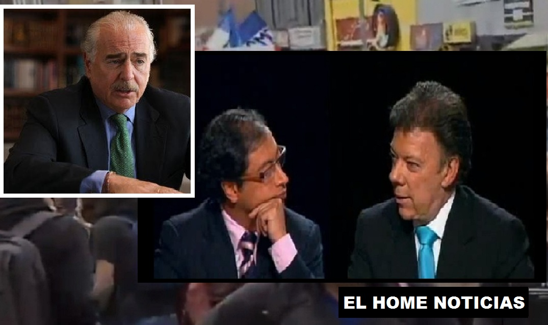 Andrés Pastrana, Gustavo Petro y Juan Manuel Santos.