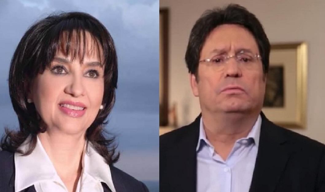 Claudia Blum y Francisco Santos.