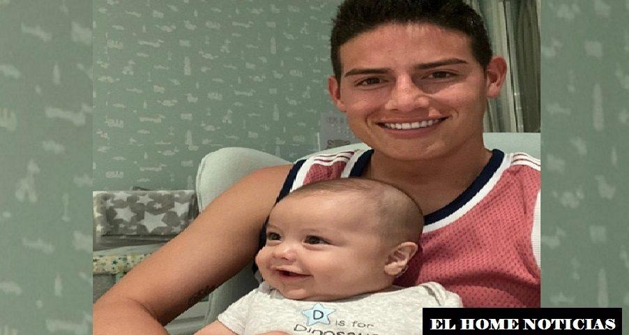 James Rodríguez con su hijo.