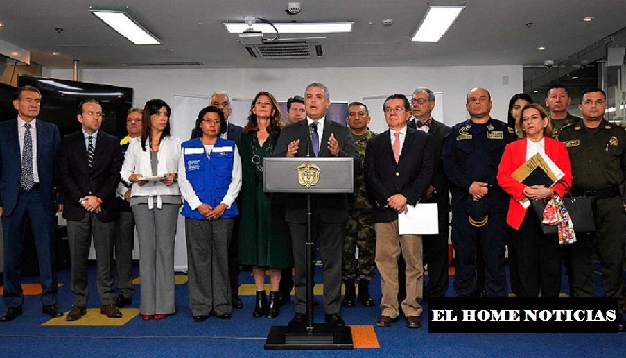 Presidente Iván Duque anunciando emergencia de la Salud.