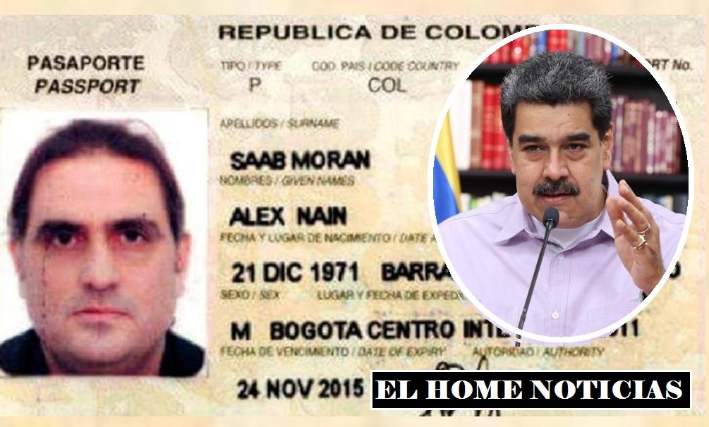 Pasaporte de Alex Saab y Nicolás Maduro.