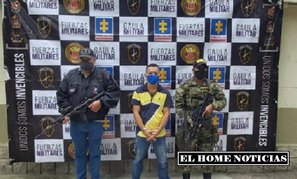 La detención se hizo efectiva en diligencia judicial realizada por funcionarios del CTI de la Fiscalía, con apoyo del Gaula Militar, en Andes (Antioquia).